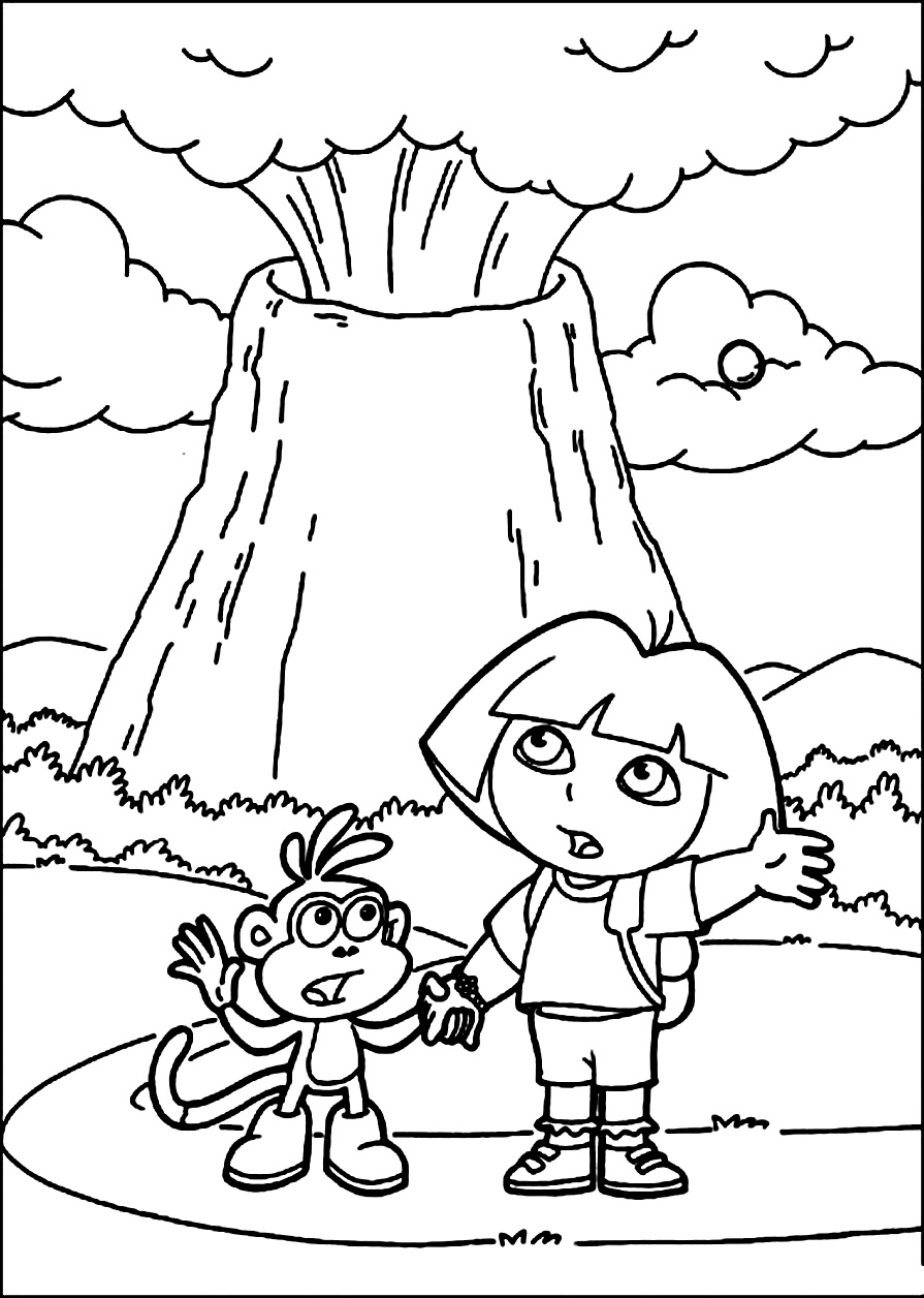 coloring sheet volcano volcano eruption drawing at getdrawings free download sheet coloring volcano