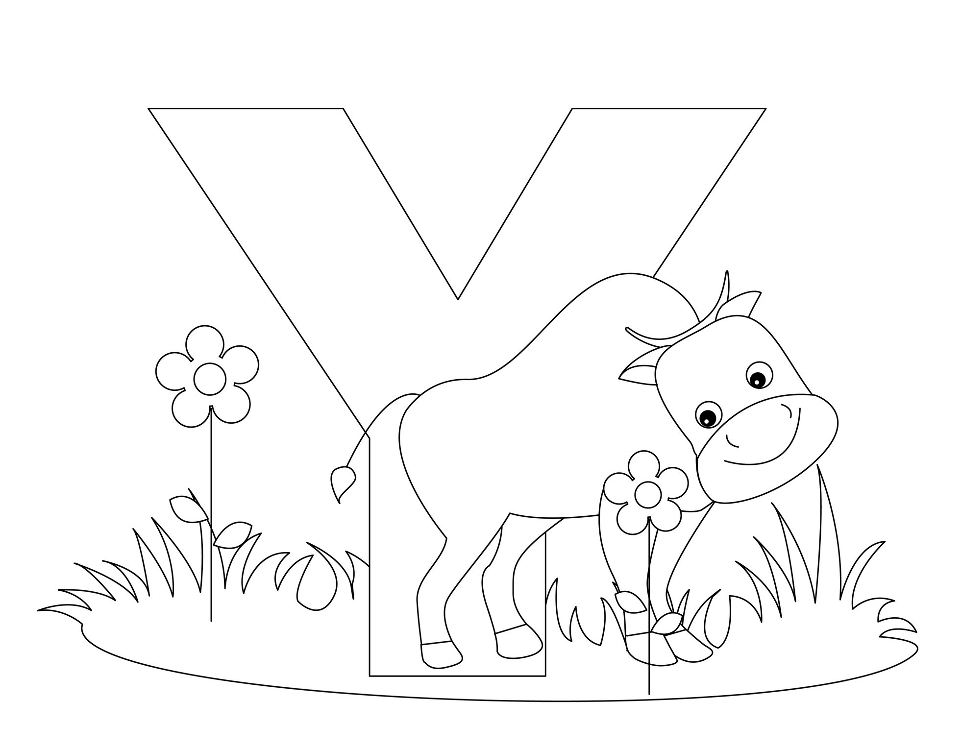 coloring sheet y things that start with the letter y levelings coloring sheet y