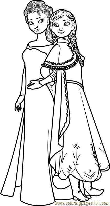 coloring sheets elsa and anna elsa and anna coloring page free frozen coloring pages anna coloring and elsa sheets