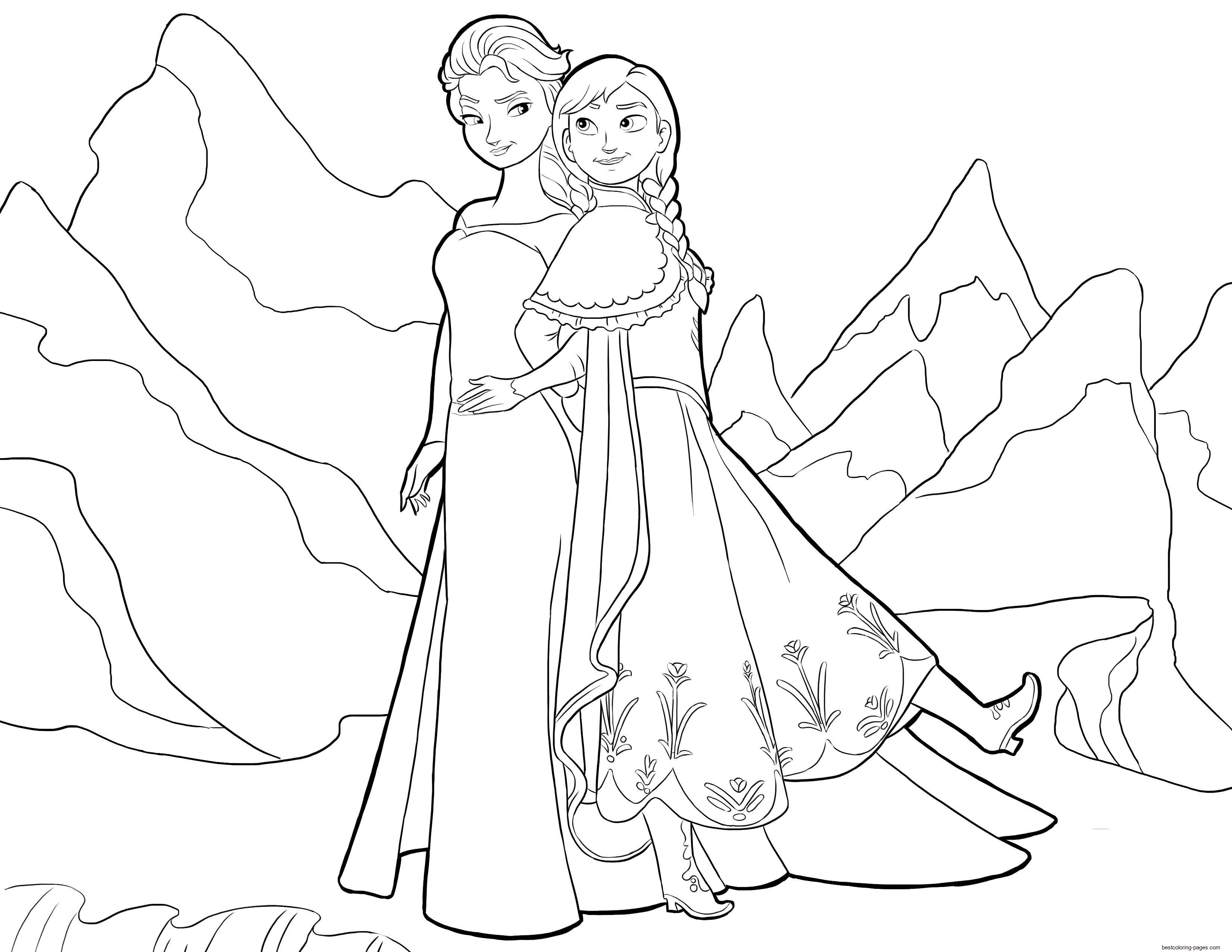 coloring sheets elsa and anna elsa and anna frozen disney coloring pages printable for elsa anna coloring and sheets