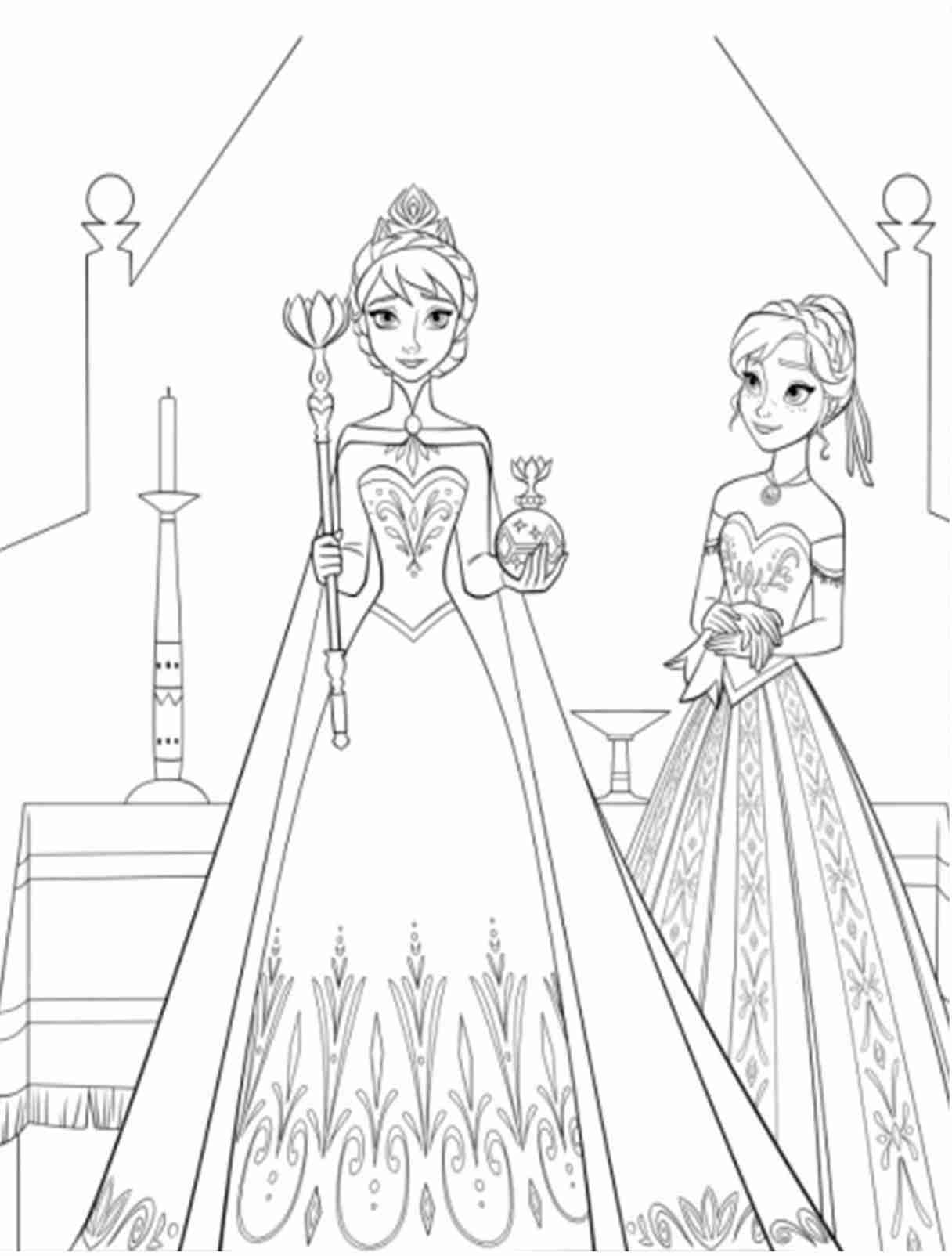 coloring sheets elsa and anna princess elsa and anna coloring pages at getcoloringscom anna and coloring elsa sheets