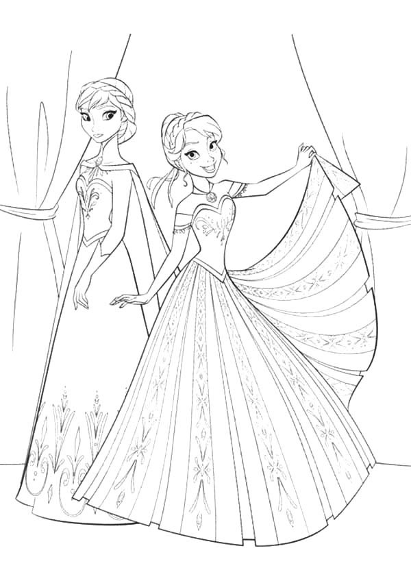 coloring sheets elsa and anna princess elsa and anna coloring pages at getcoloringscom sheets coloring elsa and anna