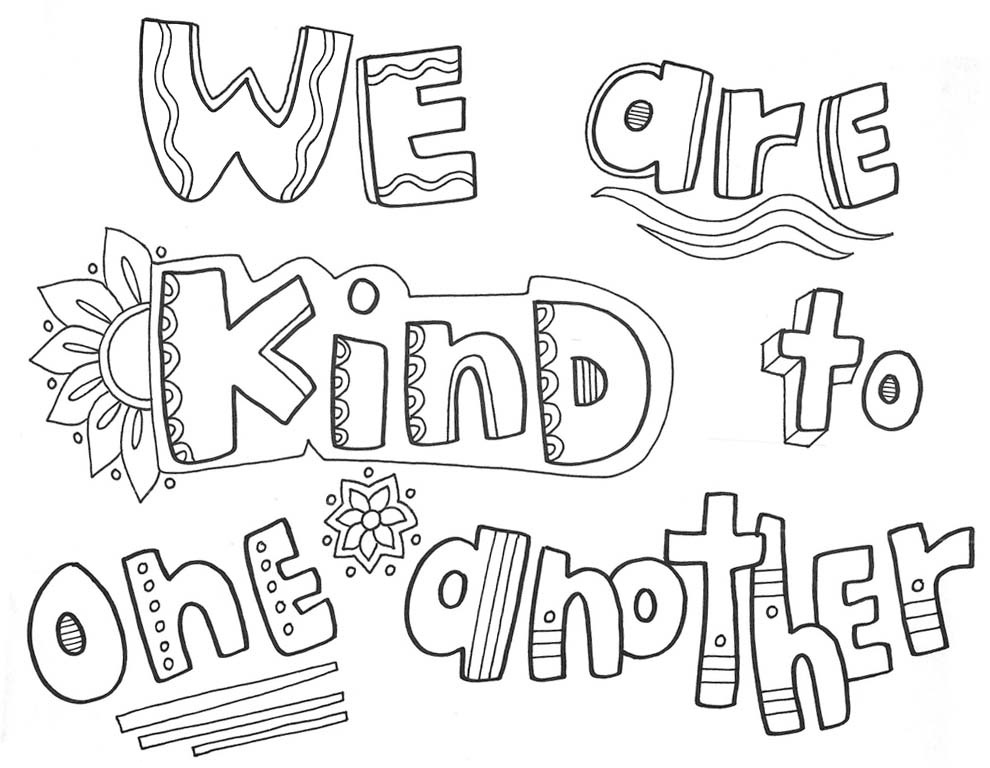 coloring sheets kindness be kind coloring page at getcoloringscom free printable coloring kindness sheets