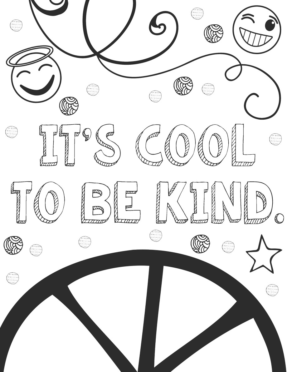 coloring sheets kindness kindness coloring page sign coloring pages sheets kindness coloring
