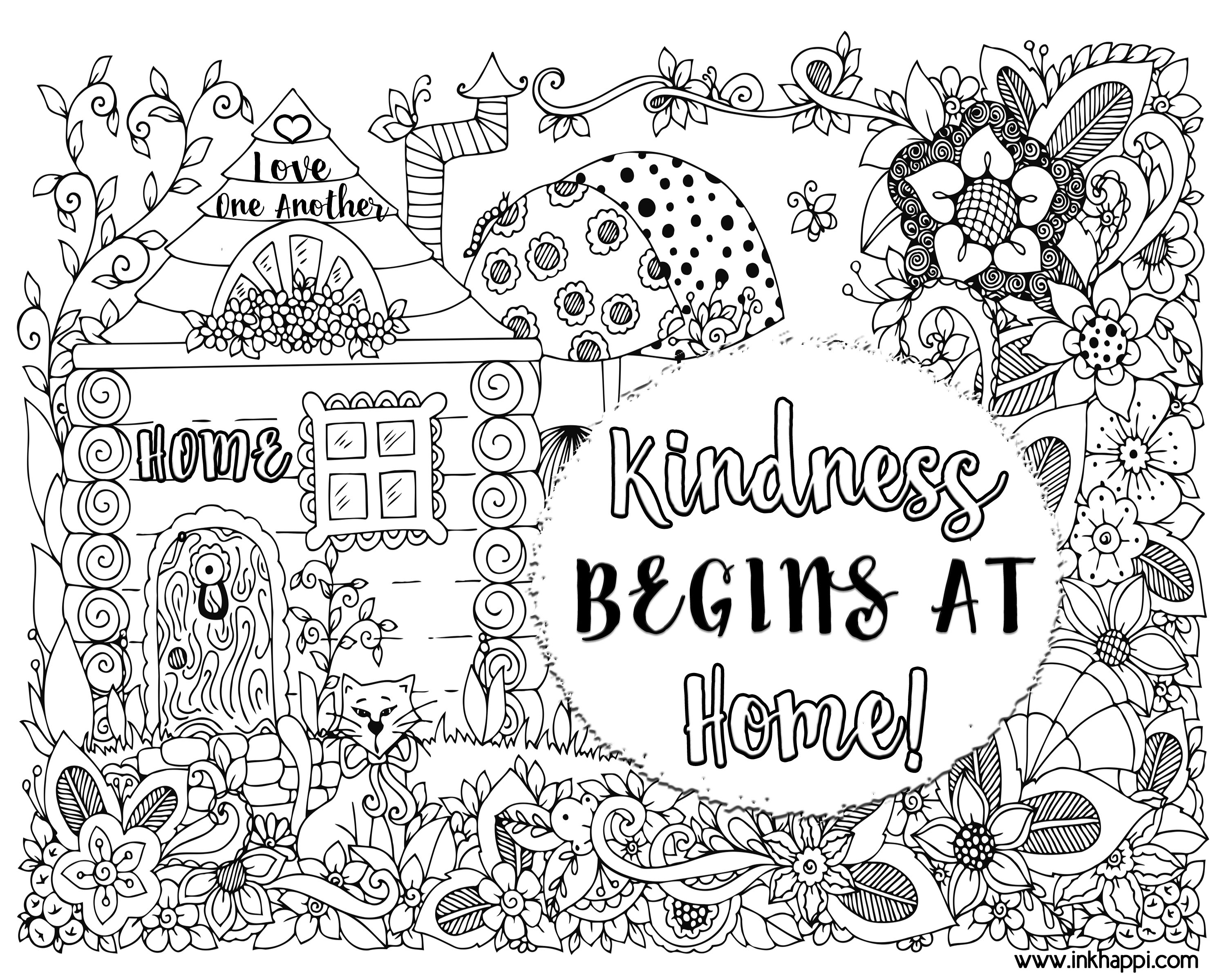 Coloring sheets kindness