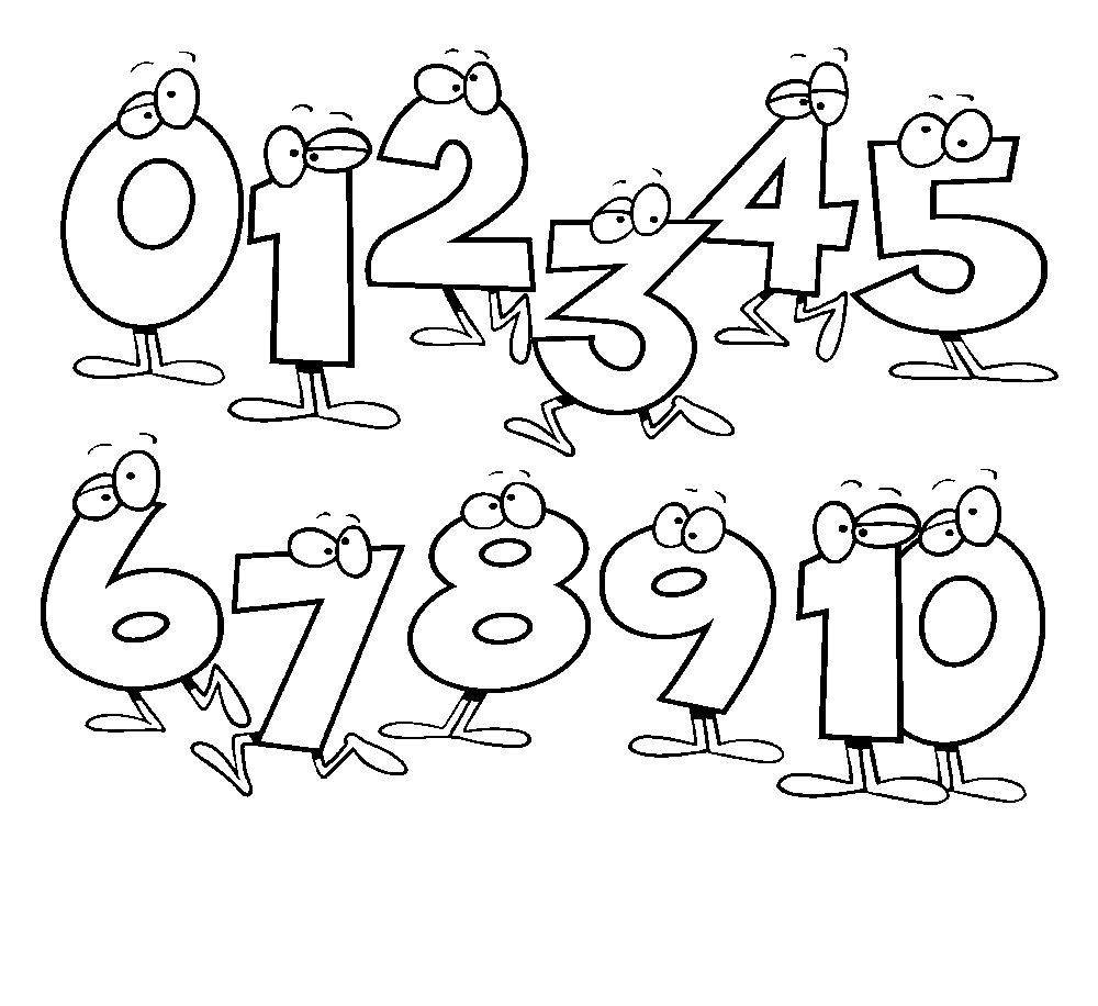 Coloring sheets with numbers