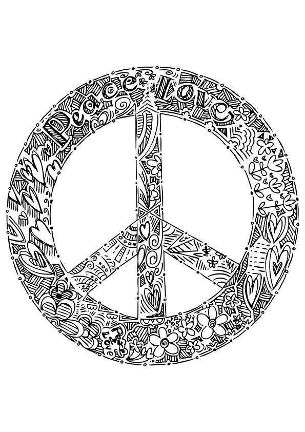 coloring sign simple and attractive free printable peace sign coloring coloring sign