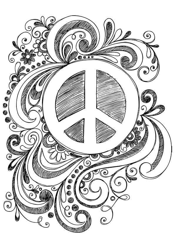 coloring sign simple and attractive free printable peace sign coloring sign coloring