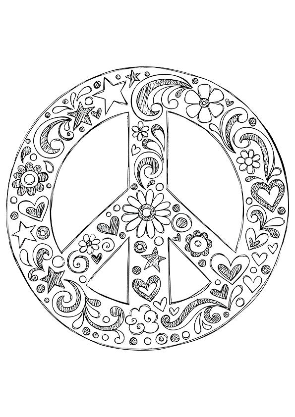 coloring sign simple and attractive free printable peace sign coloring sign coloring 1 1