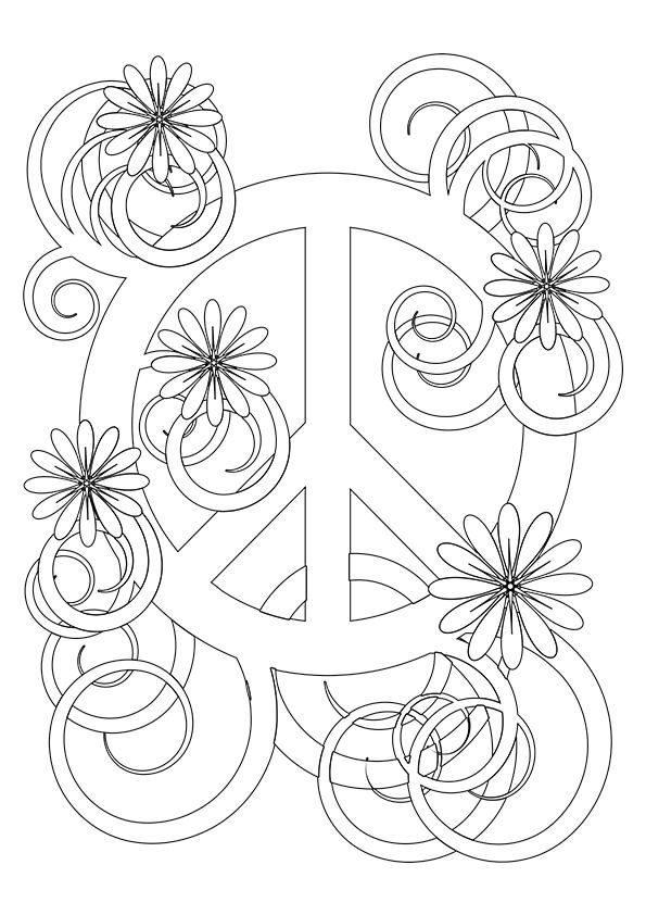 coloring sign simple and attractive free printable peace sign coloring sign coloring 1 2