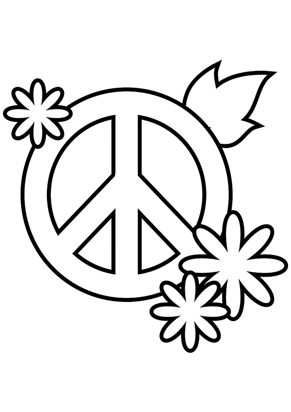 coloring sign simple and attractive free printable peace sign coloring sign coloring 1 3