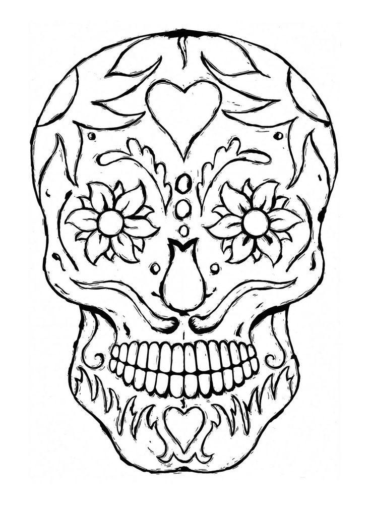 coloring skull day of the dead 17 best images about middlehigh art day of the dead on the day of dead skull coloring