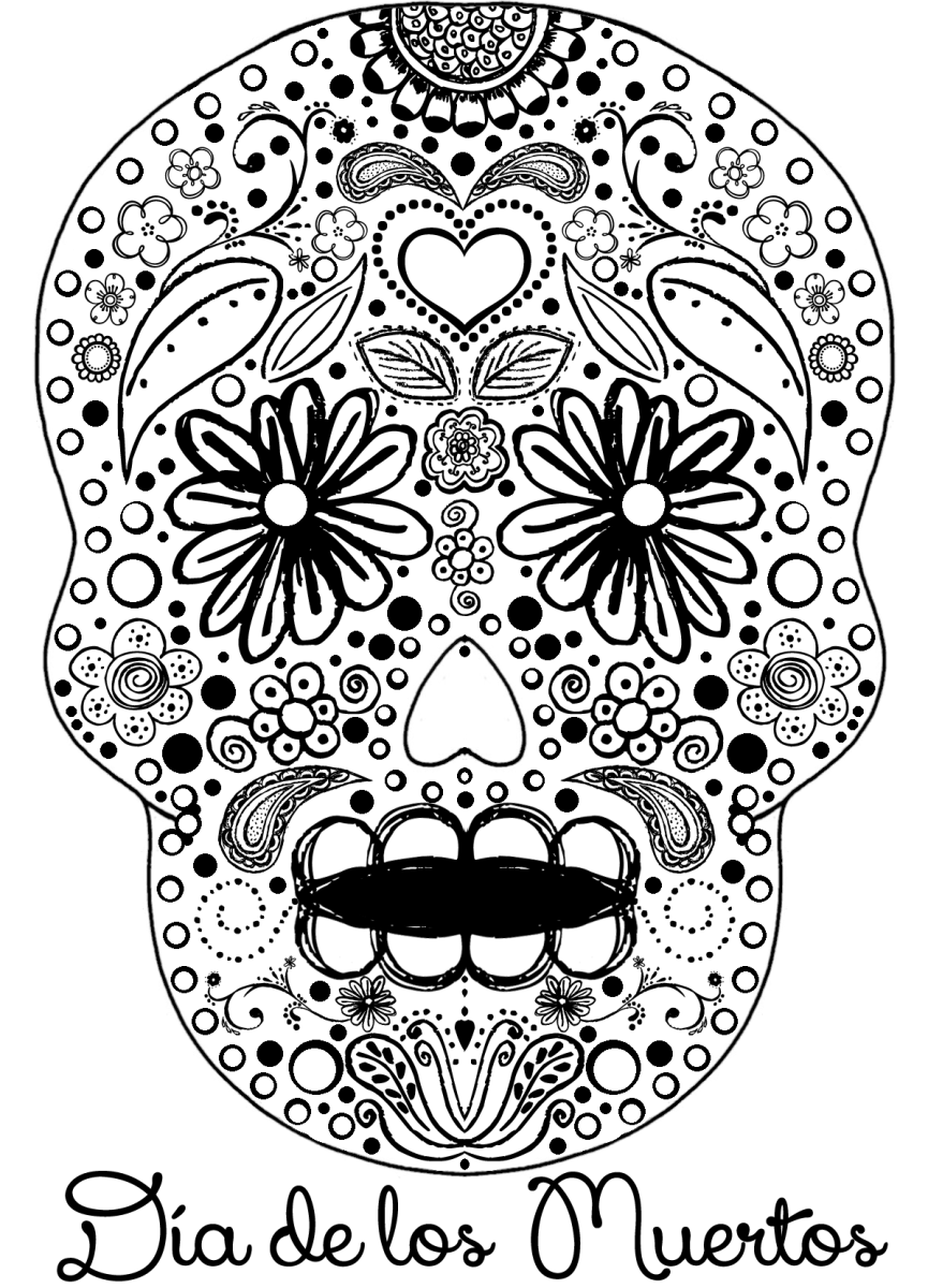 coloring skull day of the dead 6 day of the dead crafts coloring pages diy skull masks skull dead of coloring day the