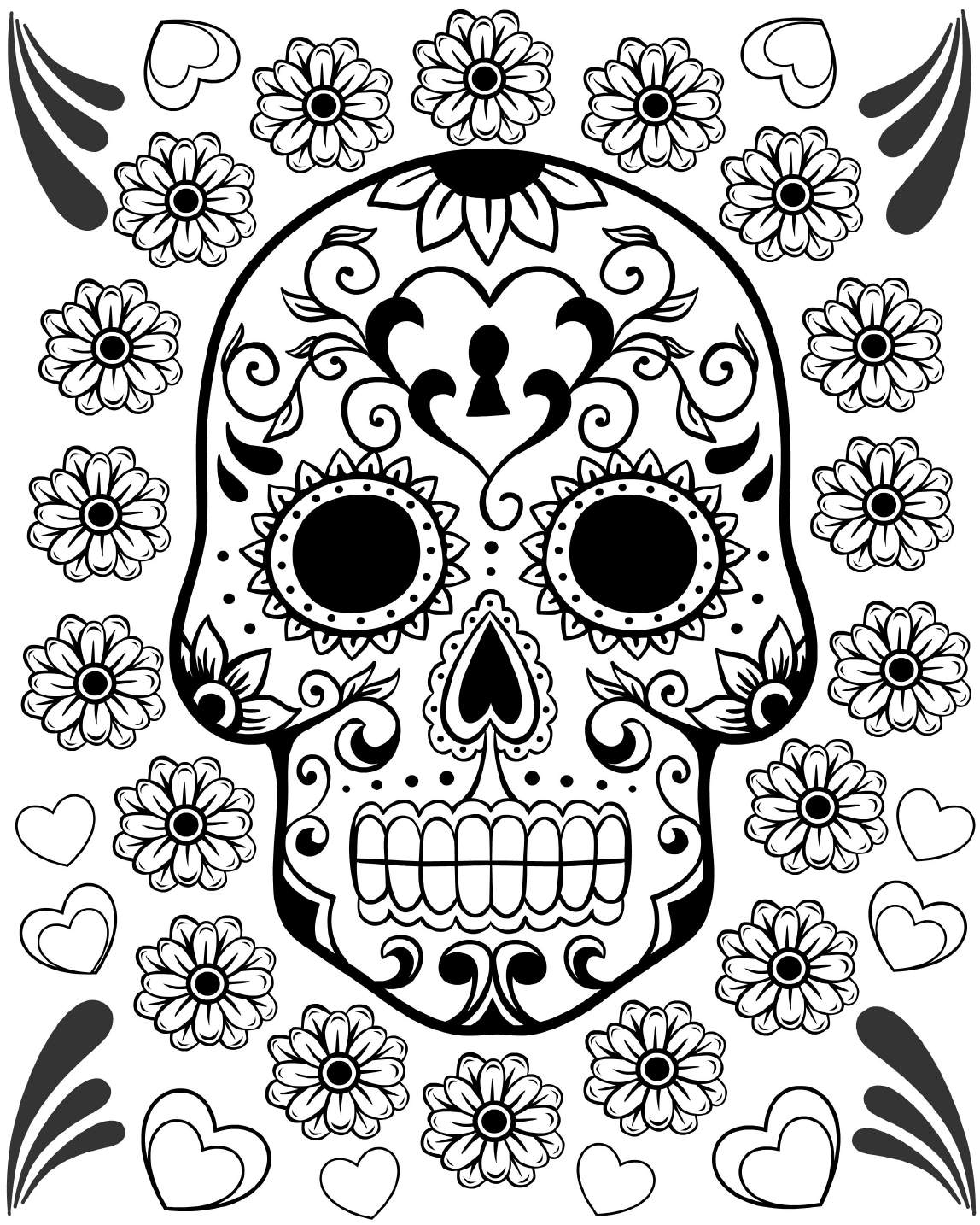 coloring skull day of the dead day of the dead coloring pages getcoloringpagescom day the skull of coloring dead