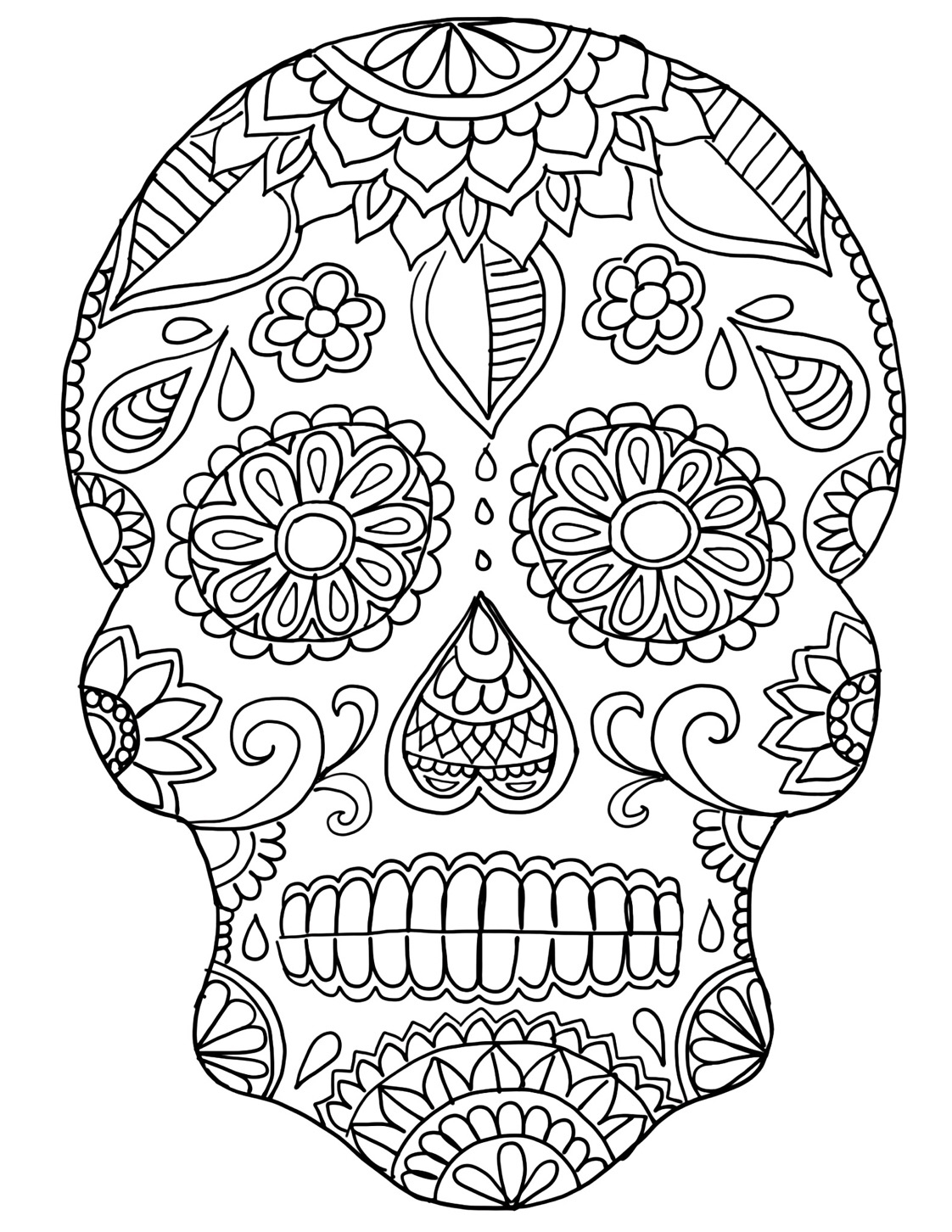 coloring skull day of the dead day of the dead coloring pages pdf at getcoloringscom of the skull day dead coloring