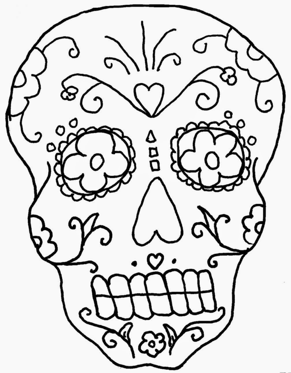 coloring skull day of the dead day of the dead skull coloring pages printable coloring home skull coloring of the day dead