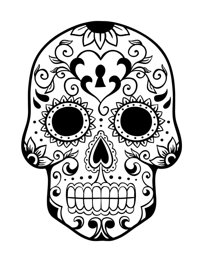 coloring skull day of the dead day of the dead sugar skull coloring page free printable the day coloring dead skull of