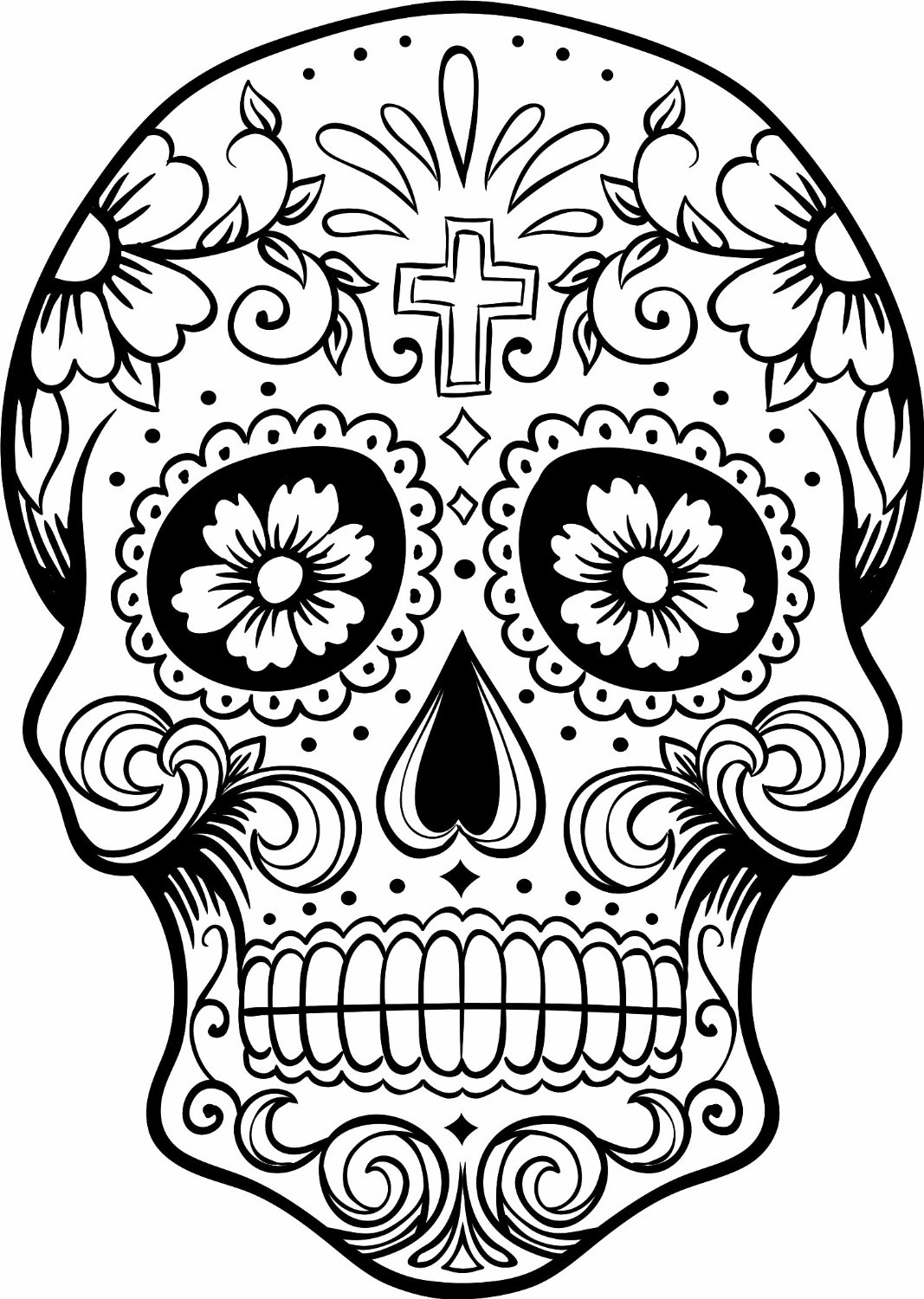 coloring skull day of the dead dia de los muertos skulls coloring pages at getcolorings day the coloring dead of skull