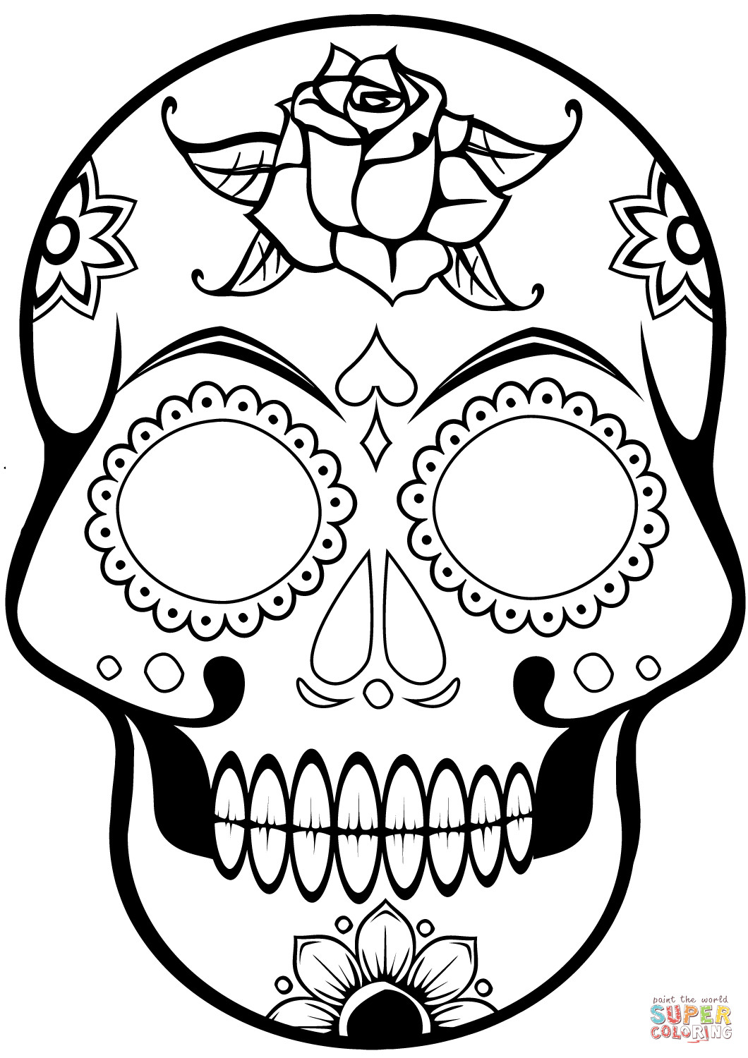 coloring skull day of the dead free printable day of the dead coloring pages best coloring the dead day skull of