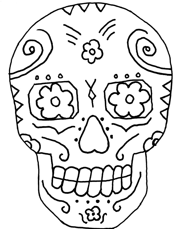 coloring skull day of the dead free printable day of the dead coloring pages best dead skull the of coloring day