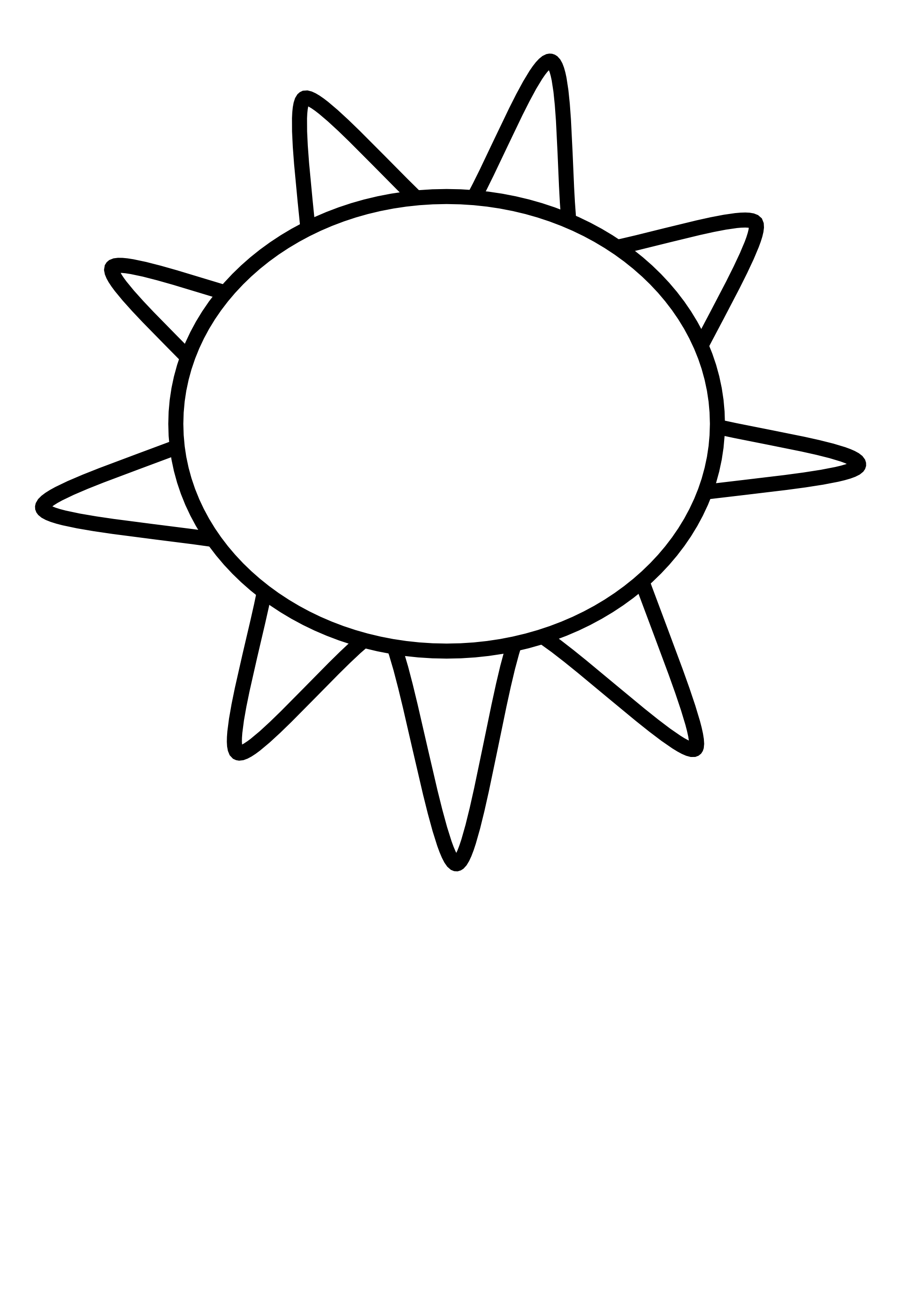 Coloring sun clipart black and white