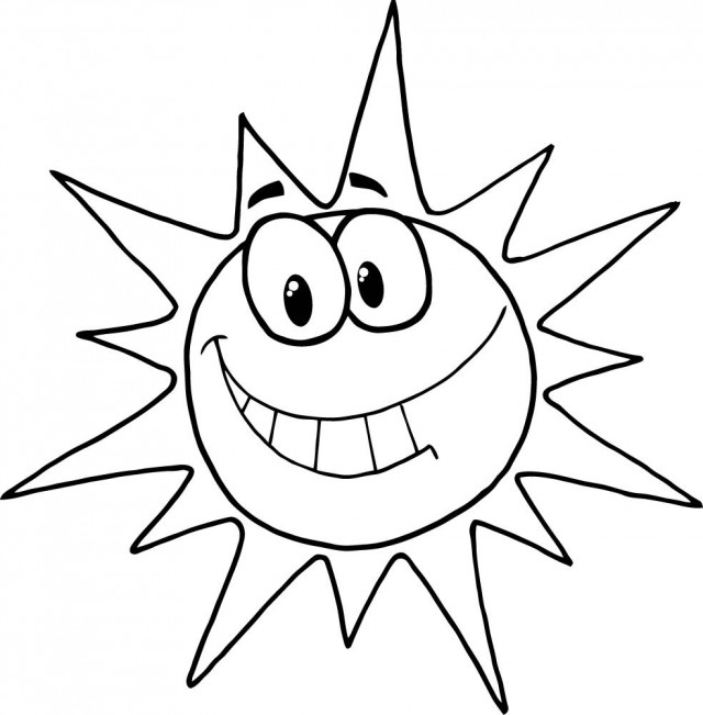 coloring sun clipart black and white summer sun coloring page getcoloringpagescom sun black and white coloring clipart