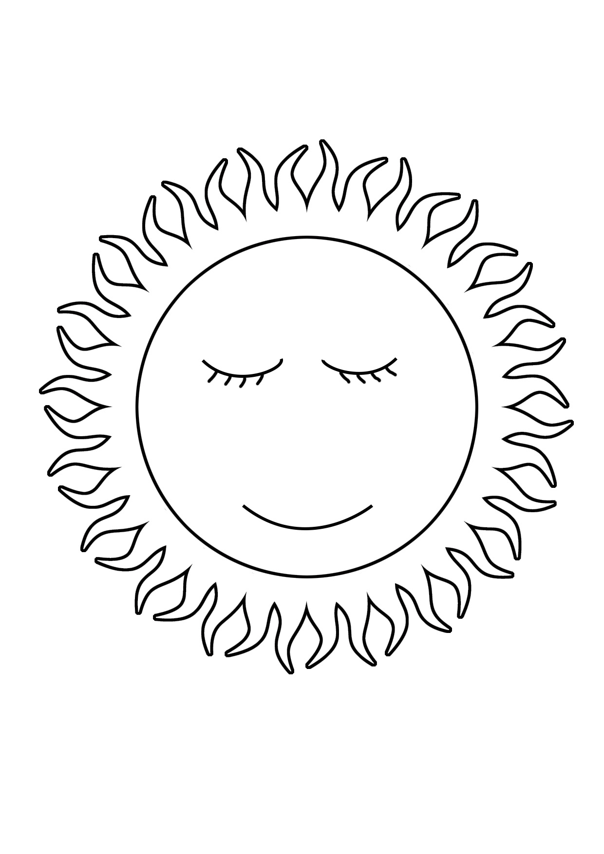 coloring sun free printable sun coloring pages for kids coloring sun 1 3