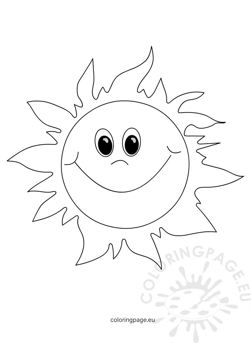 coloring sun sun coloring pages coloring pages to download and print coloring sun 1 1