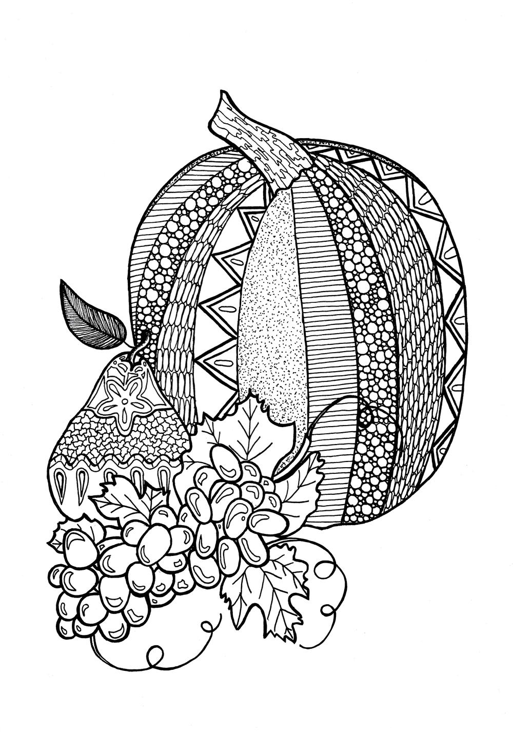 coloring techniques for adults textured pumpkin adult coloring page allfreepapercraftscom adults techniques coloring for