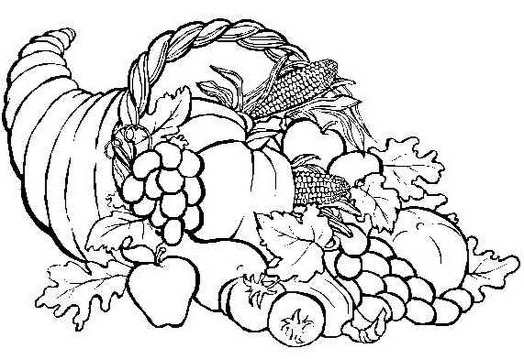 coloring thanksgiving cornucopia thanksgiving coloring printables coloring pages for kids cornucopia coloring thanksgiving