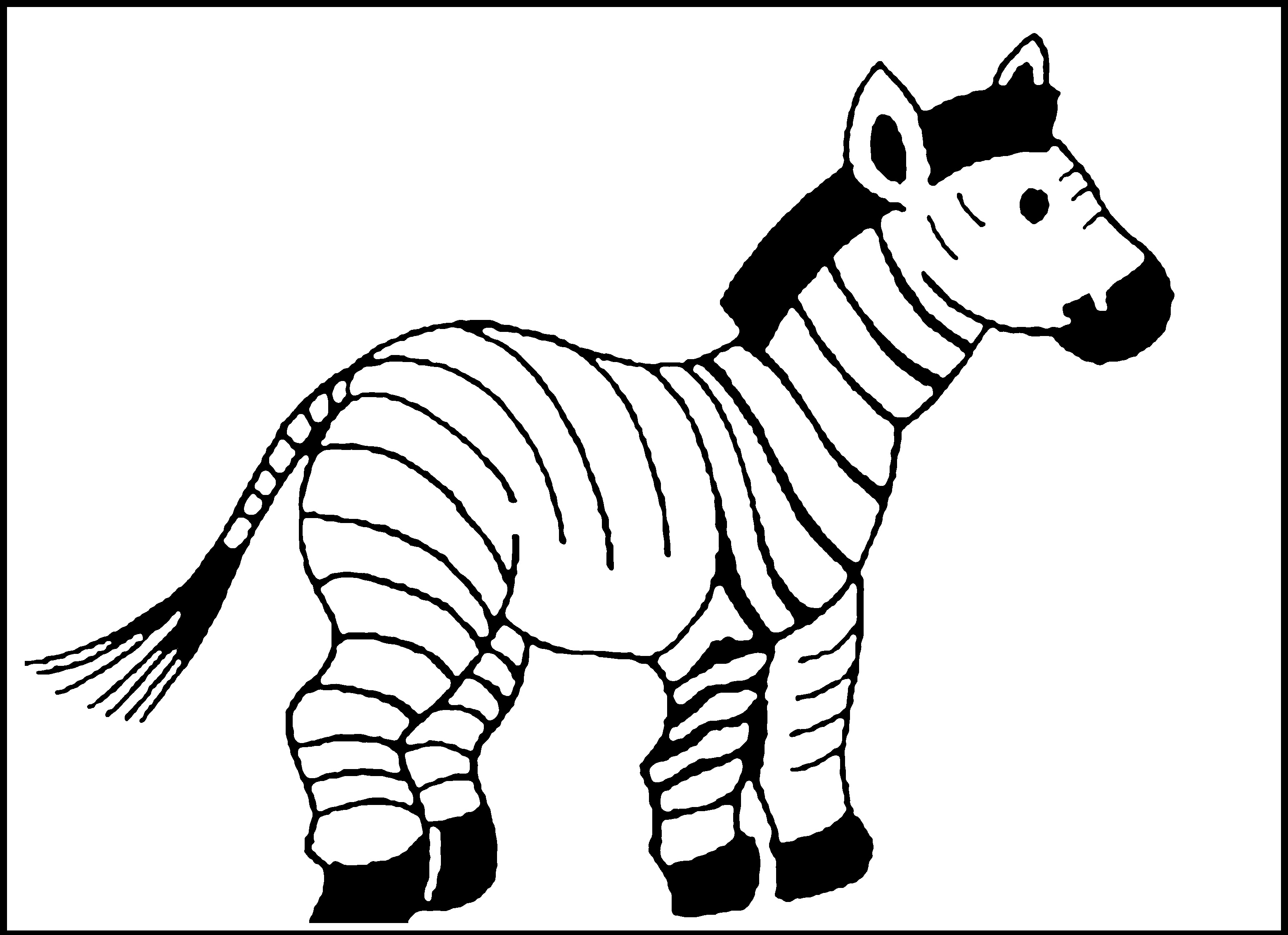 coloring the animal free zebra coloring pages animal the coloring