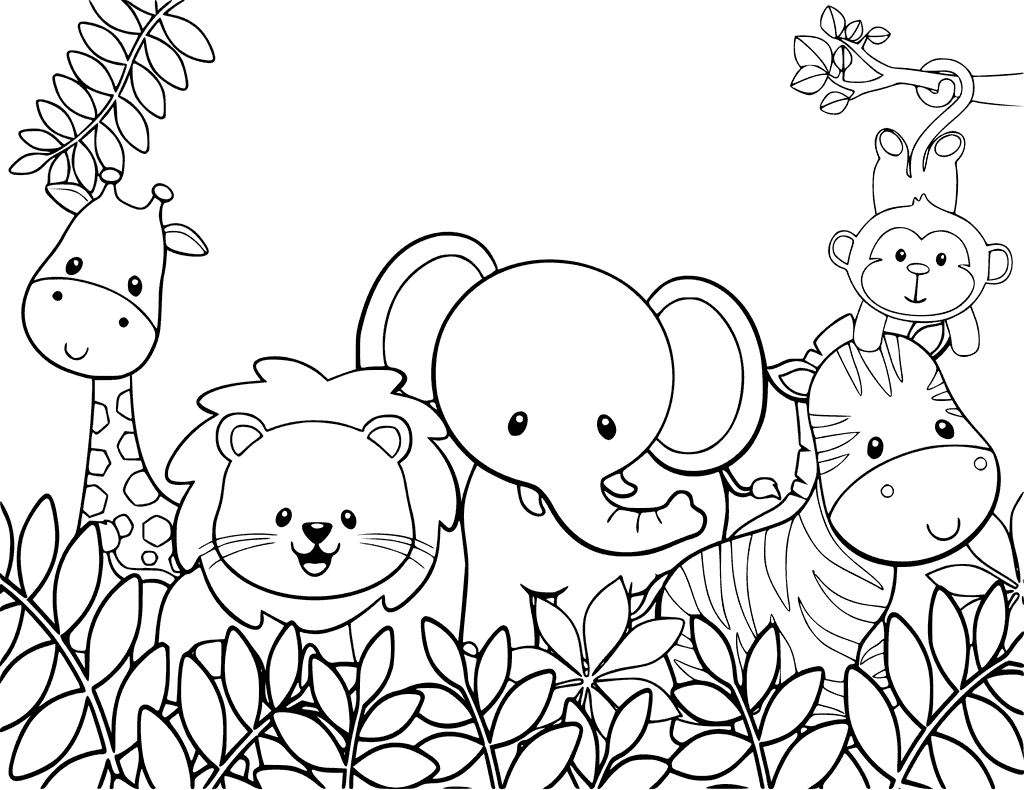 coloring the animal jungle animal coloring pages to download and print for free the animal coloring