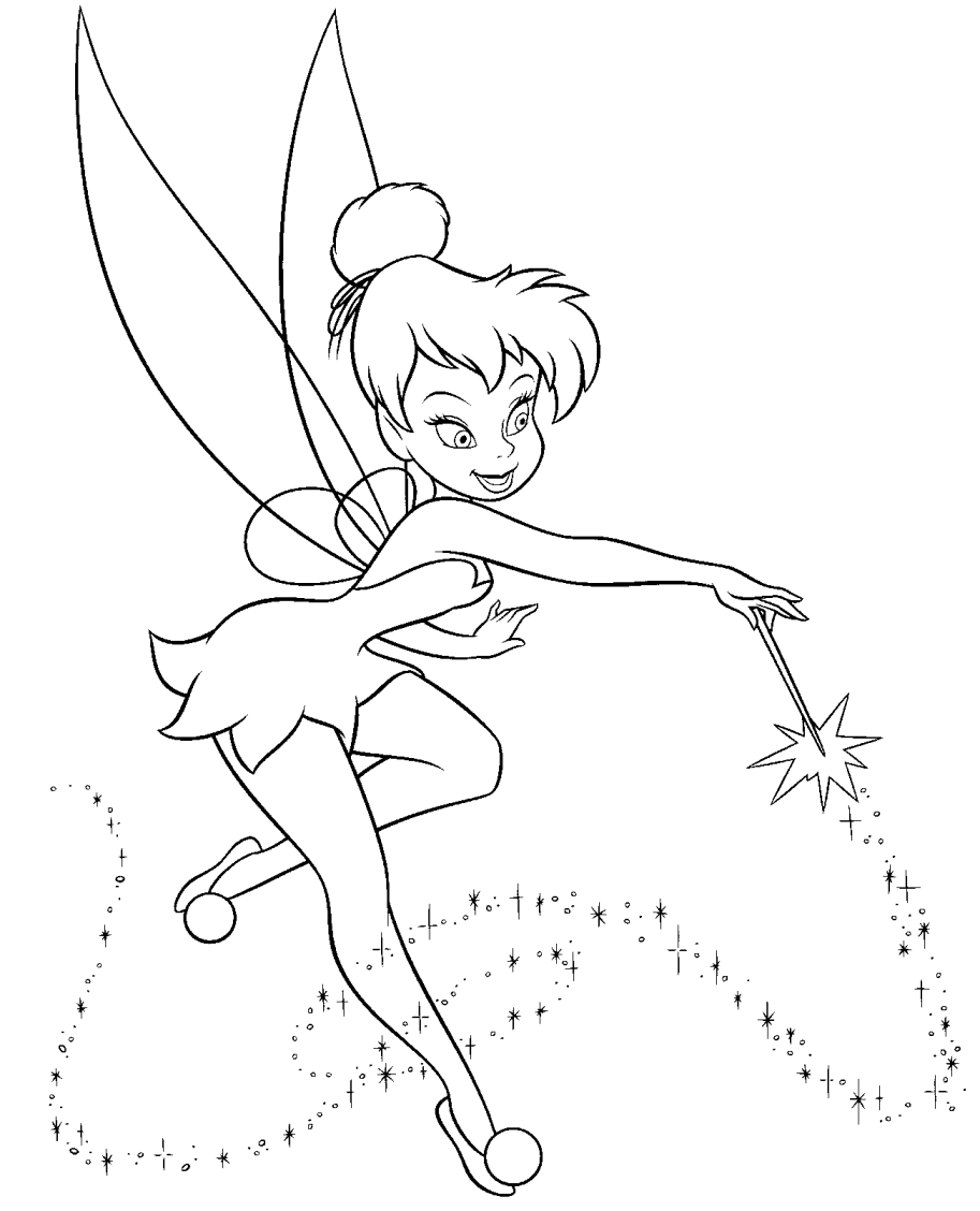 coloring tinkerbell cartoon coloring page  lovely tinker bell tinkerbell cartoon coloring