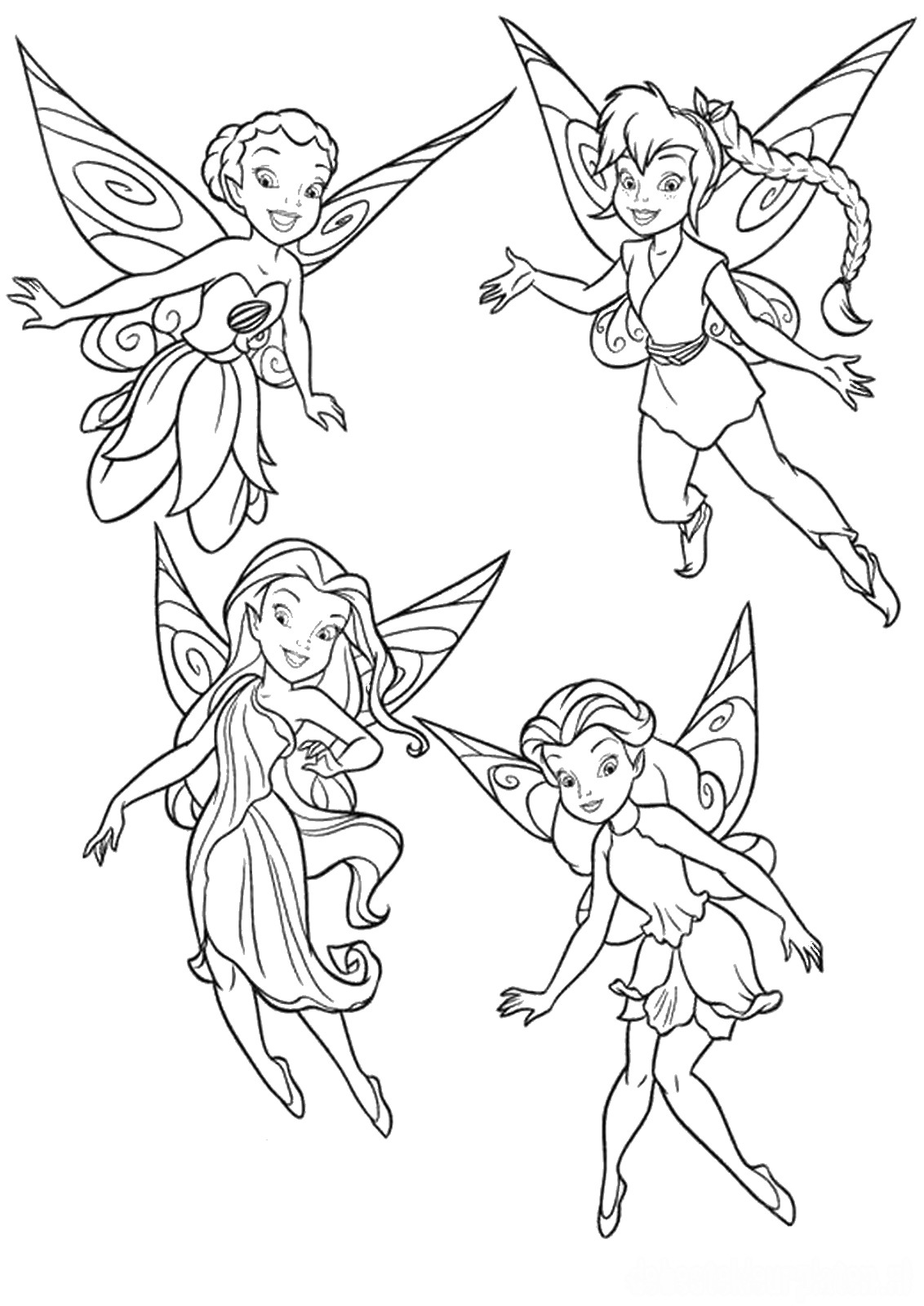 coloring tinkerbell cartoon cute collection of tinkerbell coloring pages to print tinkerbell cartoon coloring