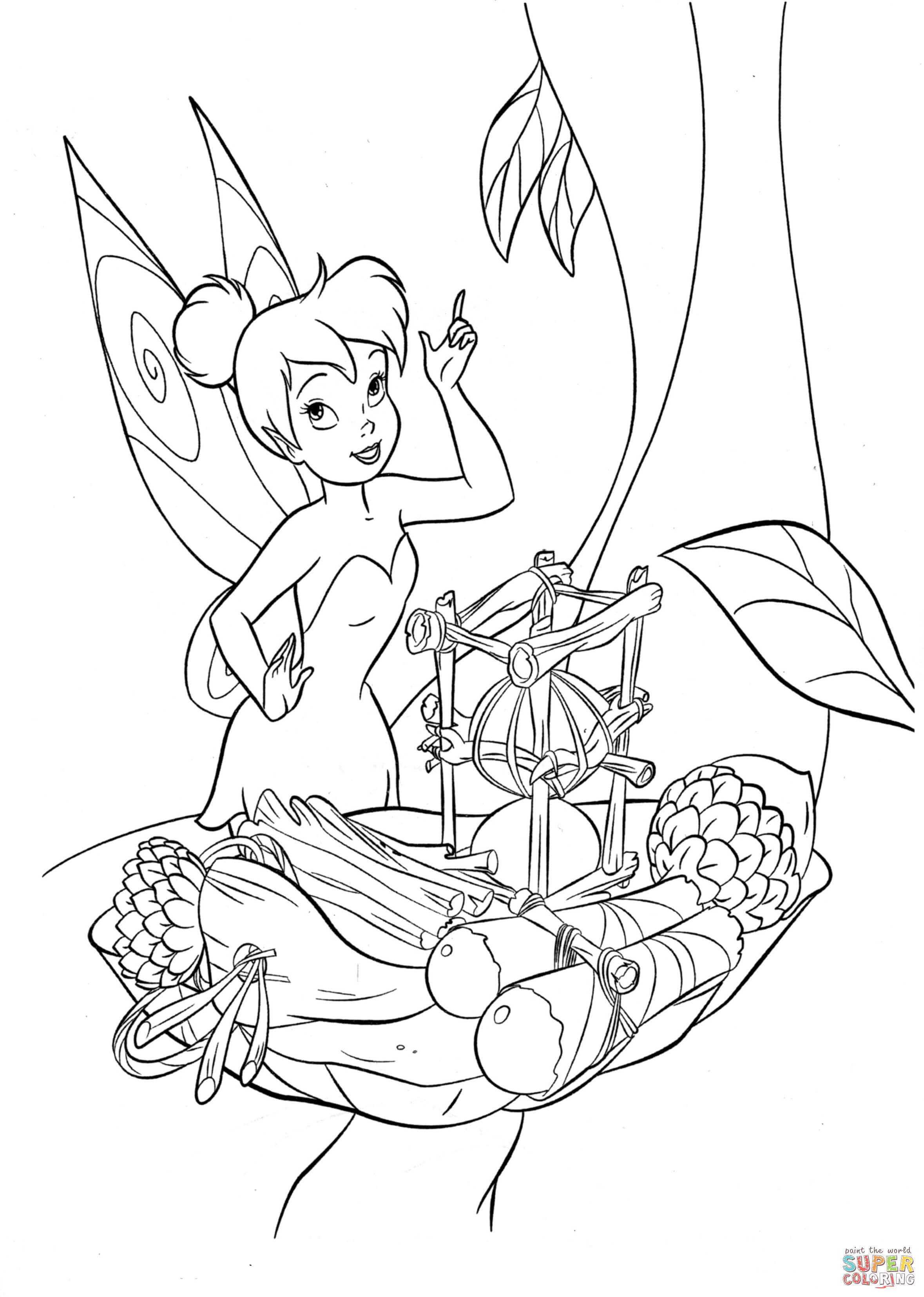 coloring tinkerbell cartoon tinkerball coloring pages at getdrawings free download cartoon tinkerbell coloring