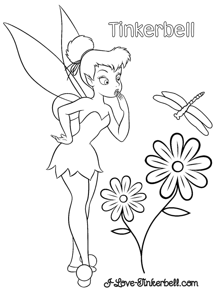 coloring tinkerbell cartoon tinkerbell and friends coloring pages team colors tinkerbell coloring cartoon