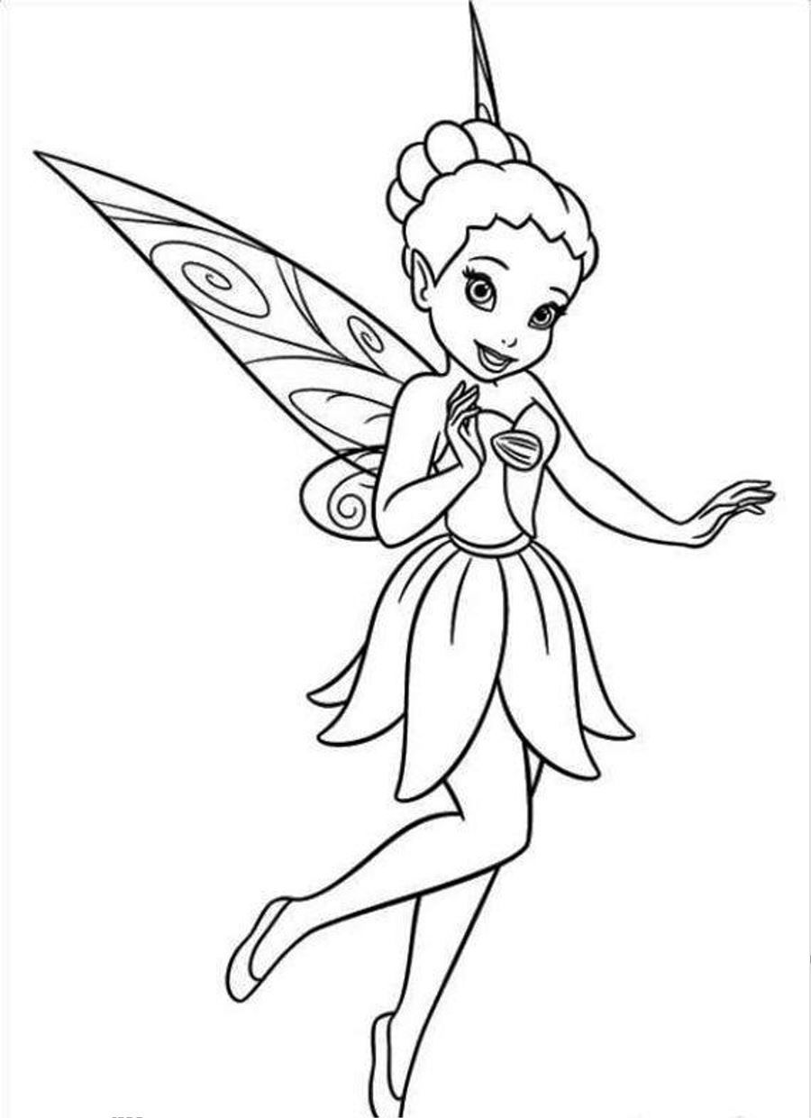 coloring tinkerbell cartoon tinkerbell breaking a dipper in pixie coloring page tinkerbell cartoon coloring