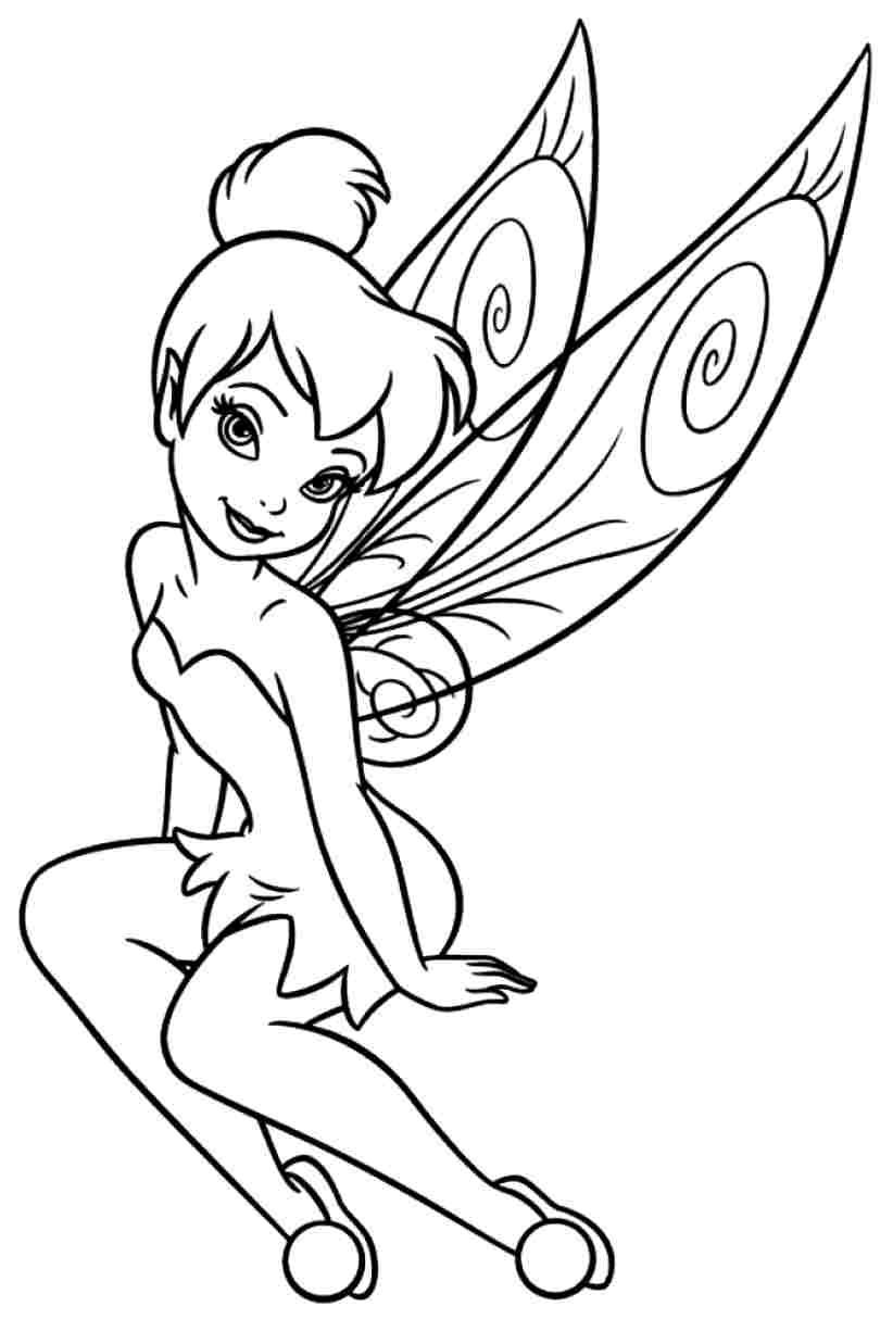 coloring tinkerbell cartoon tinkerbell coloring pages free cartoon coloring pages of coloring cartoon tinkerbell