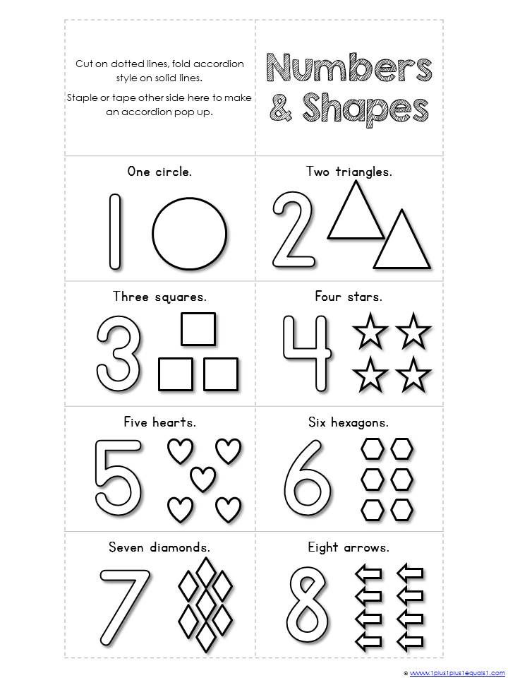 coloring toddler learning printables numbers 1 10 and shapes mini accordion coloring book toddler learning printables coloring