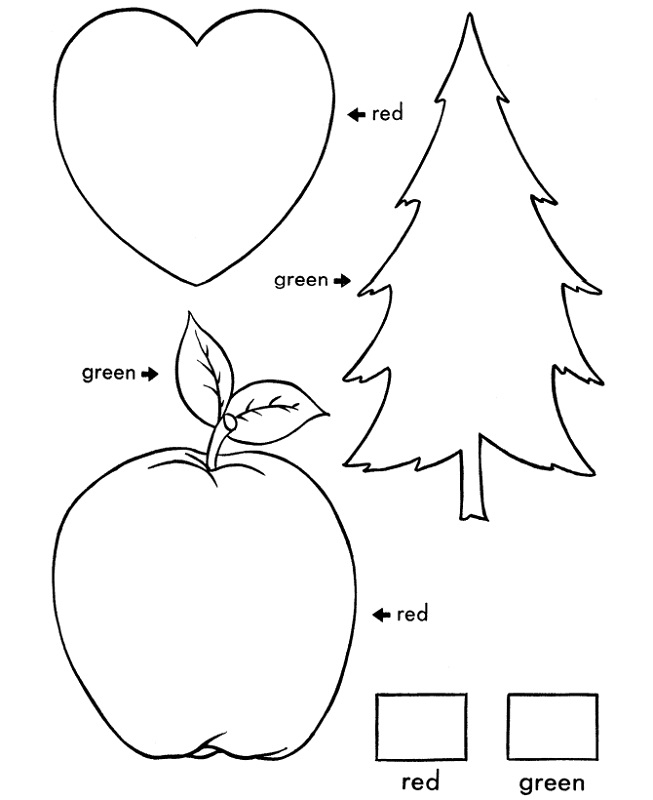 Coloring toddler learning printables
