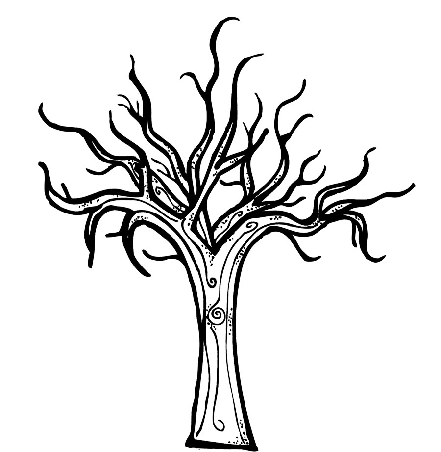 coloring tree pages fall tree trunk clip art cliparts tree pages coloring