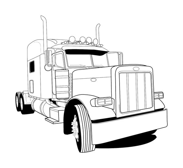 coloring truck clipart black and white cartoon fire truck pictures clipartsco white truck and black clipart coloring