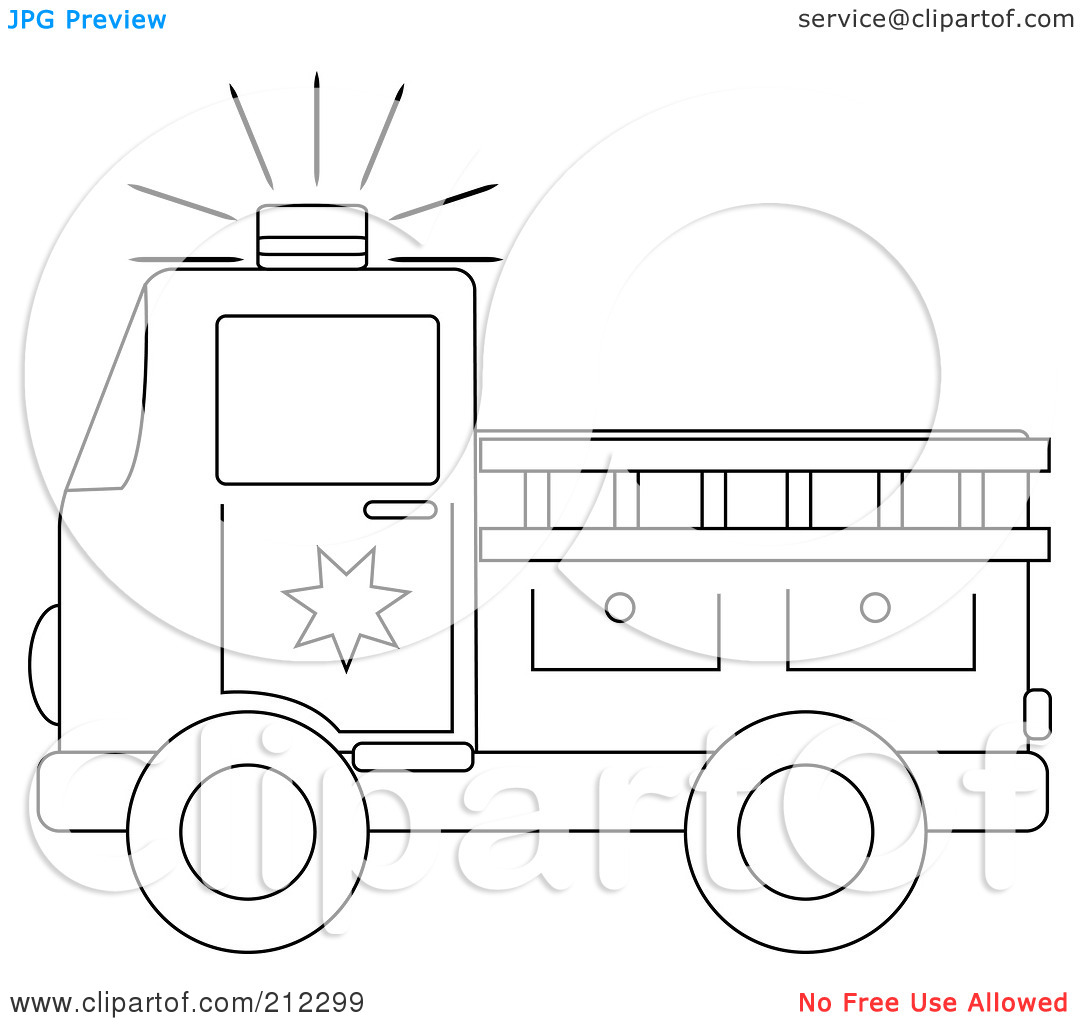 coloring truck clipart black and white coloring page outline of a fire truck with a ladder white black and coloring truck clipart