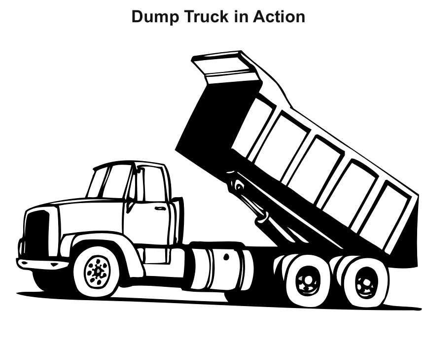 coloring truck clipart black and white lorry clipart black and white clipground white and truck clipart black coloring