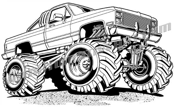 coloring truck clipart black and white monster truck clipart black and white clipart panda white black clipart coloring truck and