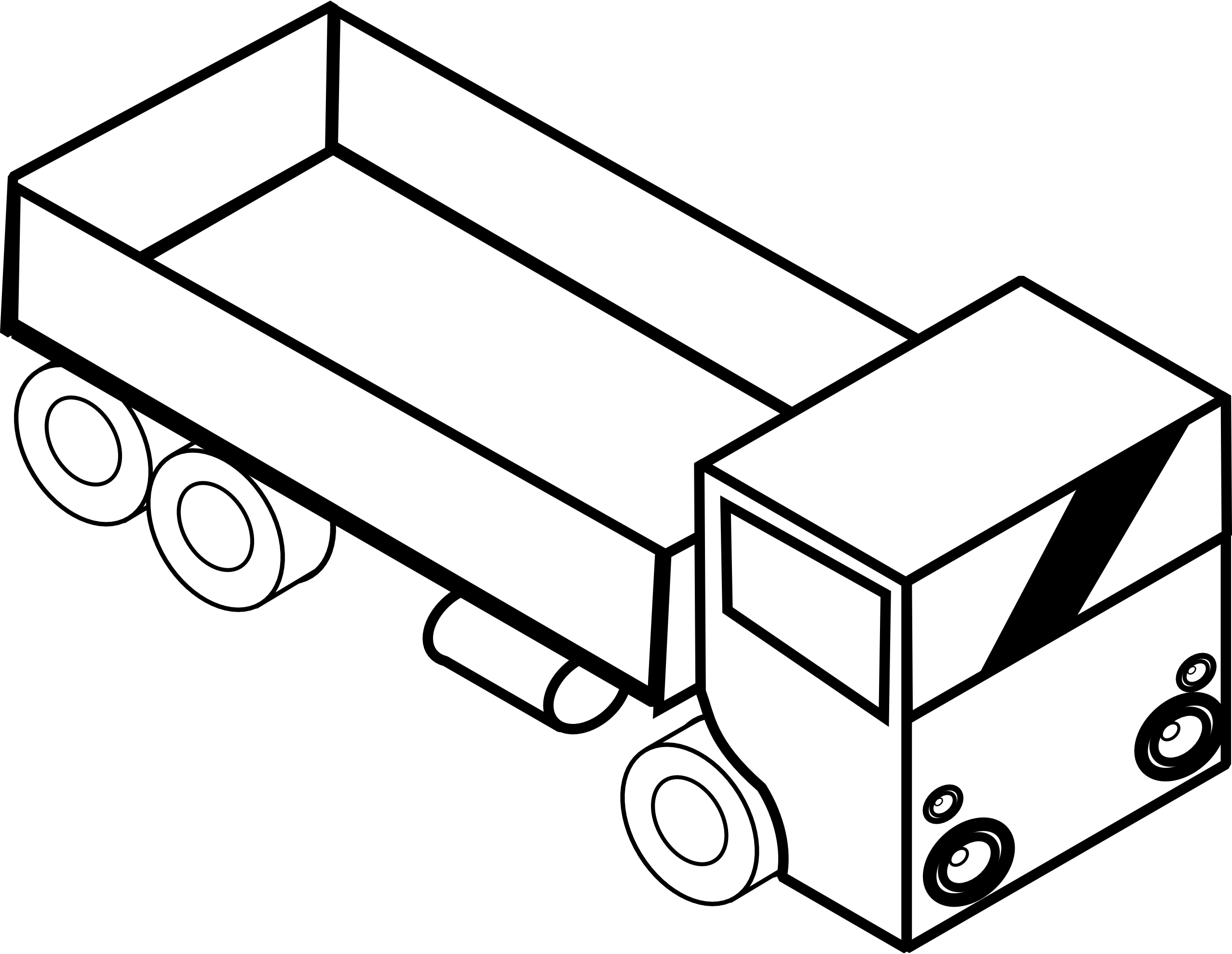 coloring truck clipart black and white picture of moving truck clipartsco black truck clipart white and coloring