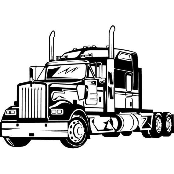 coloring truck clipart black and white tow truck outline 2 svg tow truck svg tow truck clipart etsy black truck and clipart white coloring