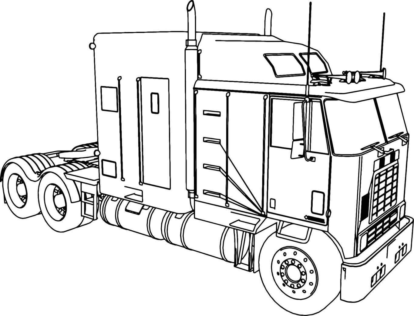 coloring truck pictures coloring page large truck truck coloring pictures