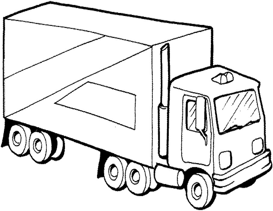 coloring truck pictures semi truck outline drawing at getdrawings free download coloring pictures truck