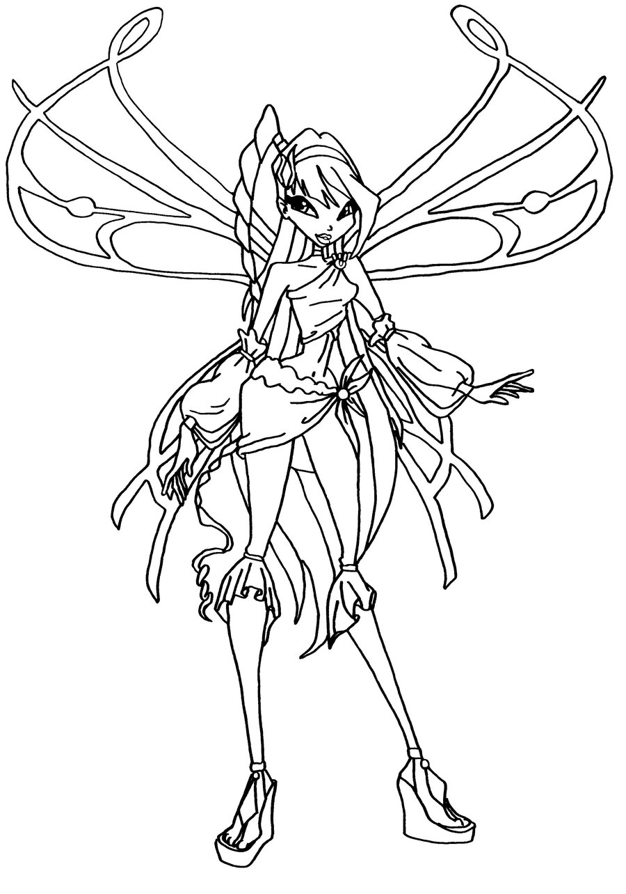 coloring winx club flora winx coloring pages download and print flora winx club winx coloring